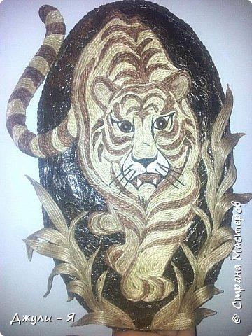 """Привет всем Мастерам и Мастерицам и просто гостям!!! А вот моя 2 часть """"Африки"""" !!! Ну какая Африка без тигра а дом без ключницы??!!)) И вот небольшой МК! фото 24"""