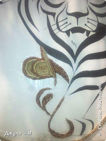 Мастер-класс Филигранная ключница- Тигр  МК Шпагат фото 5