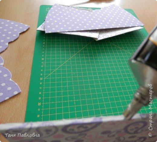 Мастер-класс Поделка изделие Вышивка Картонаж Шкатулка юбилейная №50 Канва Картон Ткань фото 18