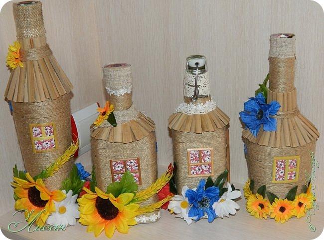 Бутылочки-домики. фото 5