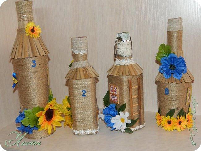 Бутылочки-домики. фото 6