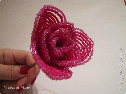 Мастер-класс Бисероплетение Мои прекрасные розы Бисер фото 26