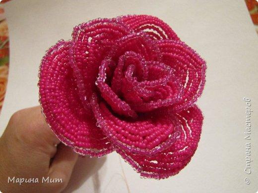 Мастер-класс Бисероплетение Мои прекрасные розы Бисер фото 27