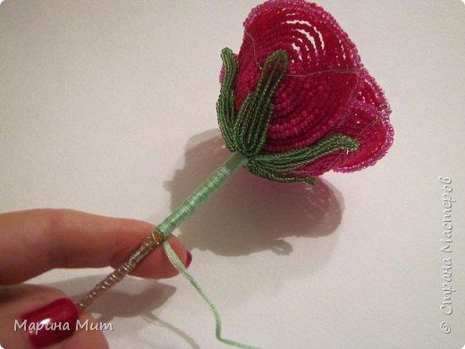 Мастер-класс Бисероплетение Мои прекрасные розы Бисер фото 29
