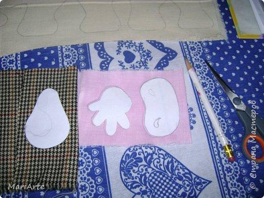 Мастер-класс Шитьё Шьём -Смешную коровку- М К Клей Кофе Краска Ткань фото 5