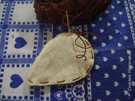Мастер-класс Шитьё Шьём -Смешную коровку- М К Клей Кофе Краска Ткань фото 12