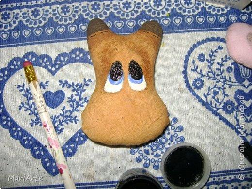Мастер-класс Шитьё Шьём -Смешную коровку- М К Клей Кофе Краска Ткань фото 31