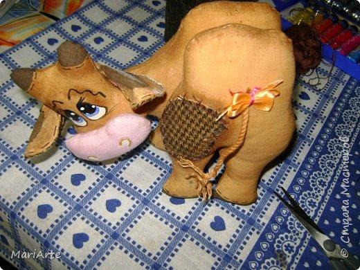Мастер-класс Шитьё Шьём -Смешную коровку- М К Клей Кофе Краска Ткань фото 43
