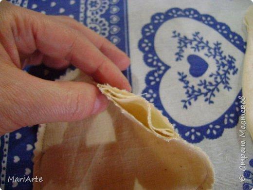Мастер-класс Шитьё Шьем Котенка М К Клей Кофе Краска Ткань фото 5