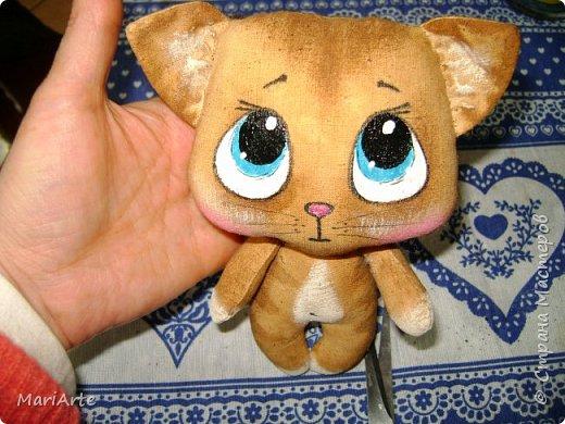 Идею такого котика с печальными глазками я взяла у Татьяны Ивлевой (Спасибо, Танюша).   Выкройку сделала сама, и вот получаются такие котята. Я расскажу, как  можно сделать такого ....  фото 21