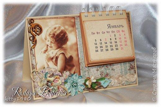 Доброго времени суток всем! У меня, как обычно, ночные бдения)))) Быстренько покажу вам пару календарей на 2015 год. Все никак не нарадуюсь своему биндеру. Скоро займусь блокнотиками на пружине. А пока смотрим фото. Первый календарь с символом 2015 года - премилой овечкой. На картинке чья-то работа - нашла на просторах интернета и решила использовать в своей работе. фото 3