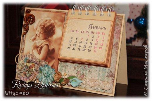 Доброго времени суток всем! У меня, как обычно, ночные бдения)))) Быстренько покажу вам пару календарей на 2015 год. Все никак не нарадуюсь своему биндеру. Скоро займусь блокнотиками на пружине. А пока смотрим фото. Первый календарь с символом 2015 года - премилой овечкой. На картинке чья-то работа - нашла на просторах интернета и решила использовать в своей работе. фото 5