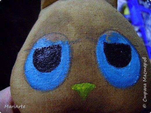 Игрушка Мастер-класс Шитьё Ароматный совенок- М К Клей Кофе Краска Ткань фото 14