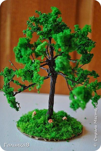 Здравствуйте дорогие мастерицы! Сегодня представляю вам как сделать макеты деревьев своими руками. Никогда не думала, что мне придется этим заняться. Дело в том, что такие деревья заказал мне папа, который занимается изготовлением макетов Храмов и церквей. Пообещать пообещала, а как делать - не знаю! Но обещание дано - надо выполнять. Нашла видео и приступила к работе. Видео, по которому я делала свои деревья можно посмотреть здесь - http://yandex.ru/video/search?filmId=1IwlFm7AUXI&text=%D0%BC%D0%B0%D0%BA%D0%B5%D1%82%D1%8B%20%D0%B4%D0%B5%D1%80%D0%B5%D0%B2%D1%8C%D0%B5%D0%B2. Решила и вам показать как я их делала, тем более, что очень часто или в школе или в детском саду просят сделать какую-либо поделку на ту или иную тему и тогда мой МК и видео автора наверняка помогут вам в этом деле. фото 30