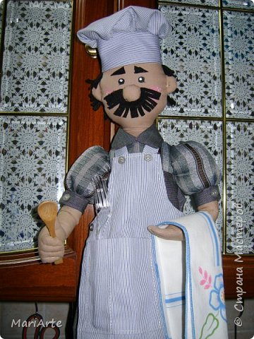 Дорогие мастерицы, давайте сошьем вот такого Повара!!! Ведь всегда приятно, когда мужчина трудится на кухне ))))) фото <i>как сшить колпак мастер класс</i> 1