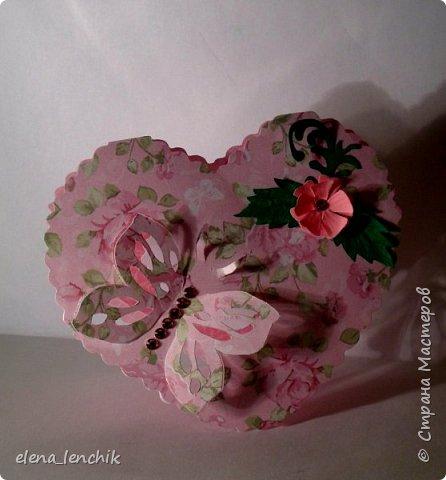 Открытка Валентинов день Вырезание Розы с сюрпризом и маленькие валентинки Бумага фото 8