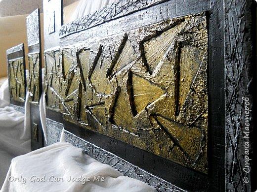 Картина панно рисунок Мастер-класс Полиптих Сделаем сами Гипс Клей Краска фото 1