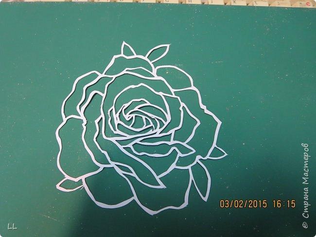 Роза в стиле витраж фото 3