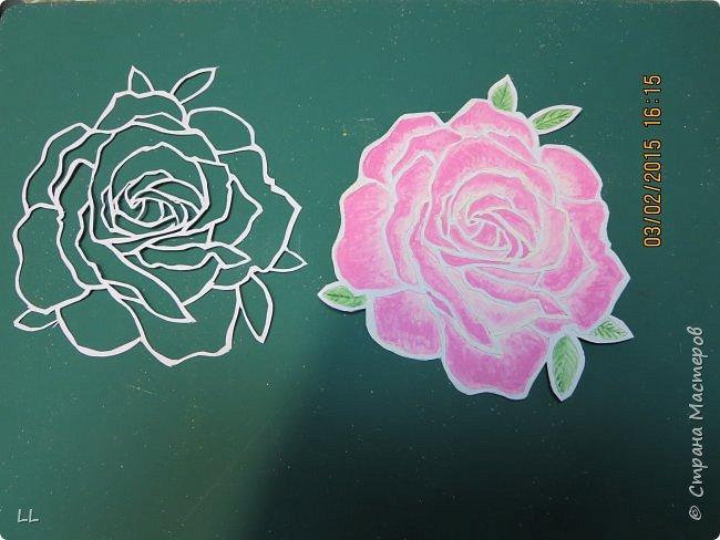 Роза в стиле витраж фото 4