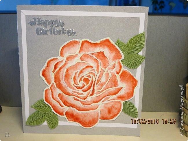 Роза в стиле витраж