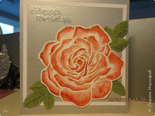 Роза в стиле витраж фото 2