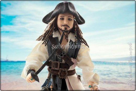 Куклы Мастер-класс Лепка Кукла Пират Джек Бусины Нитки Пластика Ткань фото 1