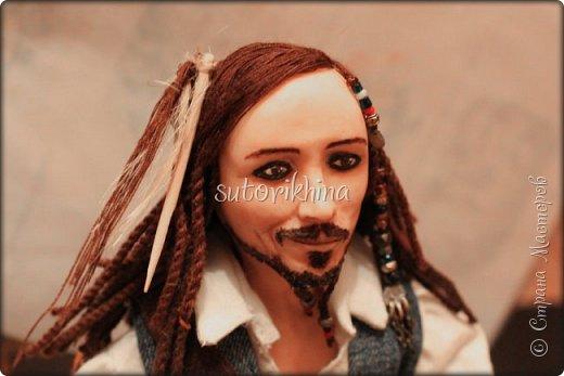 Куклы Мастер-класс Лепка Кукла Пират Джек Бусины Нитки Пластика Ткань фото 11