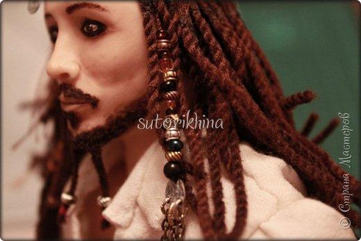 Куклы Мастер-класс Лепка Кукла Пират Джек Бусины Нитки Пластика Ткань фото 12