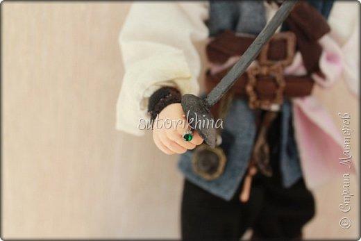 Куклы Мастер-класс Лепка Кукла Пират Джек Бусины Нитки Пластика Ткань фото 18
