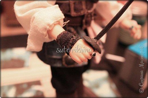 Куклы Мастер-класс Лепка Кукла Пират Джек Бусины Нитки Пластика Ткань фото 19
