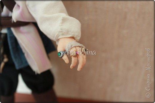 Куклы Мастер-класс Лепка Кукла Пират Джек Бусины Нитки Пластика Ткань фото 20