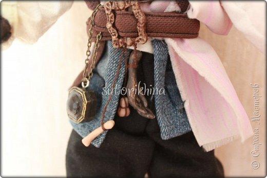 Куклы Мастер-класс Лепка Кукла Пират Джек Бусины Нитки Пластика Ткань фото 21