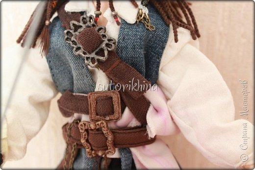 Куклы Мастер-класс Лепка Кукла Пират Джек Бусины Нитки Пластика Ткань фото 22
