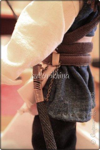 Куклы Мастер-класс Лепка Кукла Пират Джек Бусины Нитки Пластика Ткань фото 23