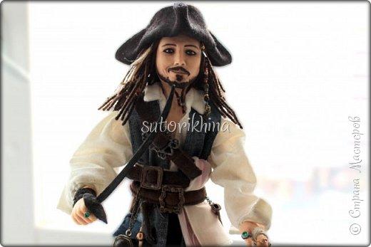 Куклы Мастер-класс Лепка Кукла Пират Джек Бусины Нитки Пластика Ткань фото 24