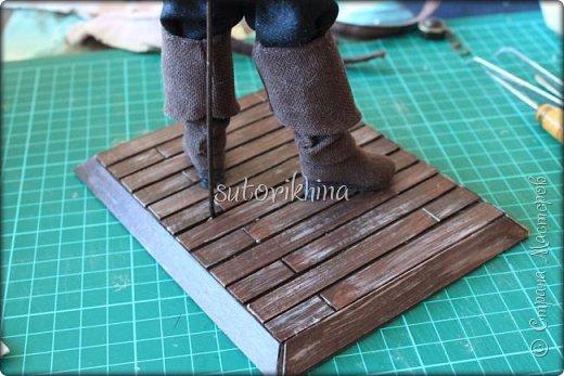Куклы Мастер-класс Лепка Кукла Пират Джек Бусины Нитки Пластика Ткань фото 29