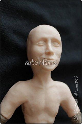 Куклы Мастер-класс Лепка Кукла Пират Джек Бусины Нитки Пластика Ткань фото 3