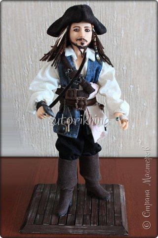 Куклы Мастер-класс Лепка Кукла Пират Джек Бусины Нитки Пластика Ткань фото 30