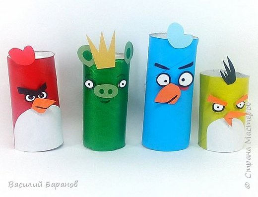 Видео Игрушка Мастер-класс 1 апреля 23 февраля День рождения Аппликация Игра Angry Birds из бросовых материалов Бумага Картон Клей Краска Материал бросовый Скотч