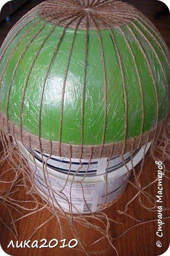 Мастер-класс Поделка изделие Абажур для кухни мини-МК Бусины Клей Краска Кружево Сутаж тесьма шнур Шпагат фото 2
