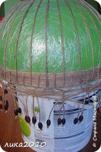 Мастер-класс Поделка изделие Абажур для кухни мини-МК Бусины Клей Краска Кружево Сутаж тесьма шнур Шпагат фото 6