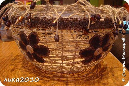 Мастер-класс Поделка изделие Абажур для кухни мини-МК Бусины Клей Краска Кружево Сутаж тесьма шнур Шпагат фото 13