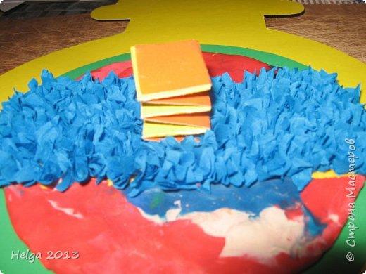 Мастер-класс Поделка изделие 23 февраля Аппликация Торцевание на пластилине Медали для пап Бумага Диски компьютерные Картон Клей Пластилин фото 12