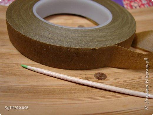 вот такая милая розочка , можно сделать несколько и поставить в  вазочку  :)  , а можно сделать без ножки и пришить в  качестве  украшения ... фото 18