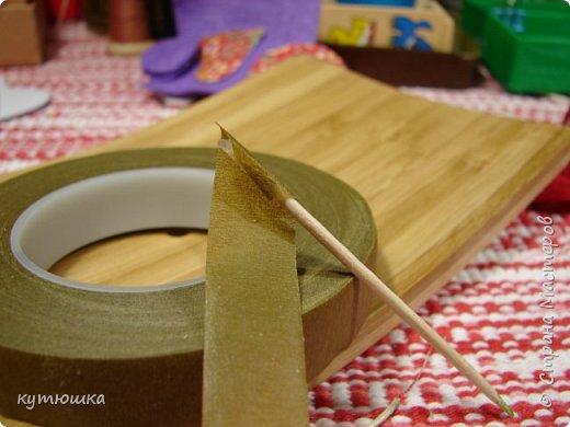 вот такая милая розочка , можно сделать несколько и поставить в  вазочку  :)  , а можно сделать без ножки и пришить в  качестве  украшения ... фото 19