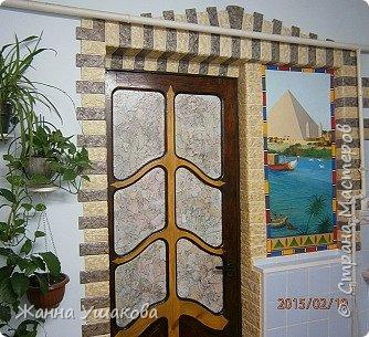 Интерьер Роспись Похожее на Египет  Бумага Клей Краска фото 1