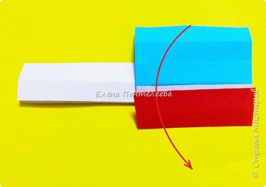 Продолжая тему 70-летия победы, предлагаю еще одну авторскую разработку по оригами- Российский флаг. фото 20