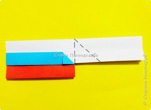 Продолжая тему 70-летия победы, предлагаю еще одну авторскую разработку по оригами- Российский флаг. фото 27