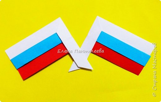 Продолжая тему 70-летия победы, предлагаю еще одну авторскую разработку по оригами- Российский флаг. фото 36