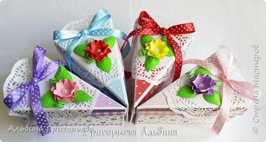 """Серия Коробочек с сюрпризом """"Кусочек тортика""""! Внутри может разместится денежка и сладкий подарок! фото 1"""